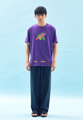 Freiknock프라이노크 VIVID SLOGAN PRINTED T-SHIRT(PURPLE)