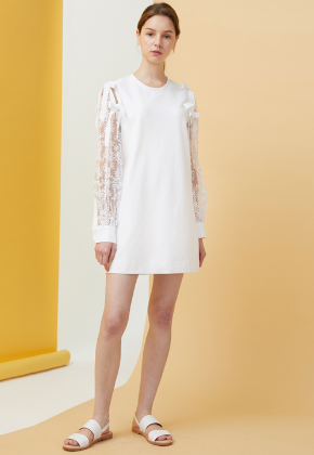 Millogrem밀로그램 Bell Laced Dress_White