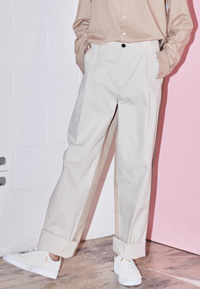 NOHANT노앙 DO-NOT-REVERSE COTTON PANTS BEIGE