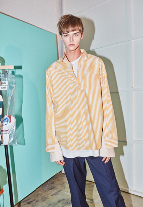 NOHANT노앙 DOUBLE LAYER SHIRT YELLOW