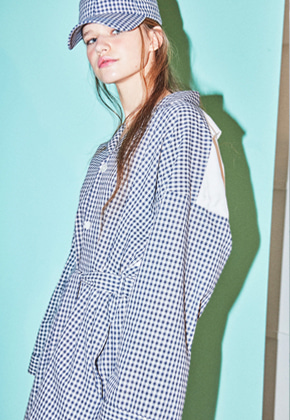 NOHANT노앙 BRUNCH PJ SHIRT GINGHAM