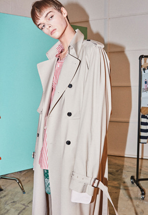 NOHANT노앙 DETACHABLE TRENCH-COAT BEIGE