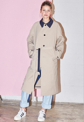 NOHANT노앙 BELTED MAC-TRENCH BEIGE