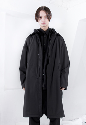 FROMMARK프롬마크 OVERSIZED TECH 3L MAC COAT Black