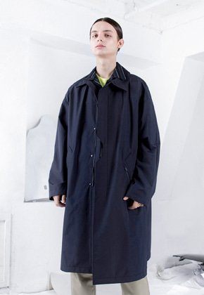 FROMMARK프롬마크 OVERSIZED TECH 3L MAC COAT Navy