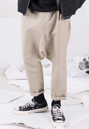 FROMMARK프롬마크 DROP CROTCH PANTS Beige