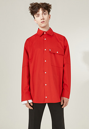 PIKHOUSE픽하우스 MALE Shirts Red