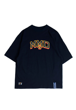Romantic Crown로맨틱크라운 MMD LOGO T_Shirt_Navy