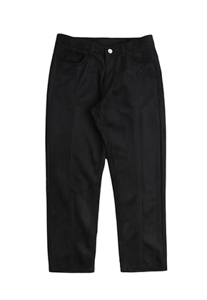 Romantic Crown로맨틱크라운 Suede Pants_Black