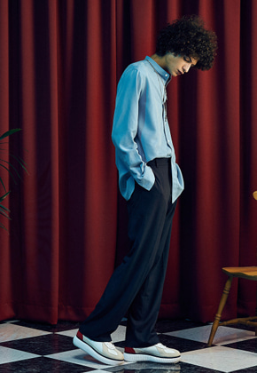 MMGL미니멀가먼츠랩 Long wide slacks (Grey)