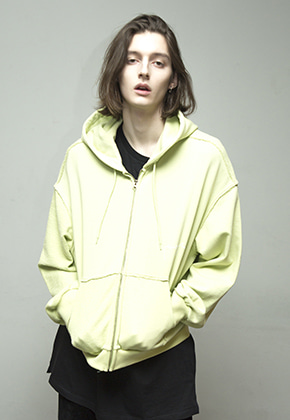 Enzoblues엔조블루스 REVERSE ZIP UP HOODY (LIME)