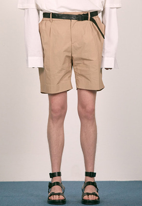 Haleine알렌느 BEIGE paper effect short pants(EB005)