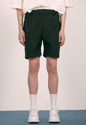 Haleine알렌느 BLACK paper effect short pants(EB004)
