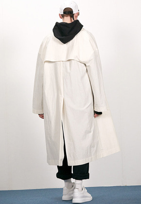 Haleine알렌느 CREAM oversized mac coat(EJ006)