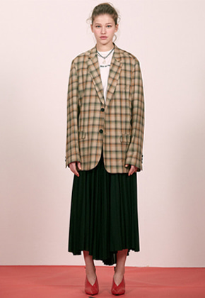 Haleine알렌느 CHECK semi oversized blazer(EJ008)