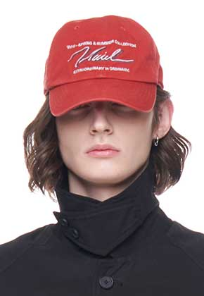 Vuiel뷔엘 WASHED LOGO BASEBALL CAP _ RED