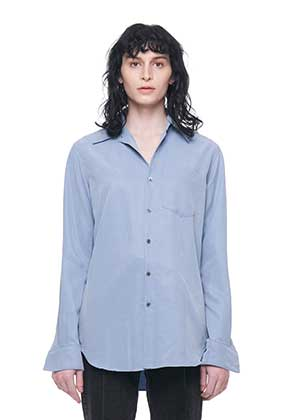 Vuiel뷔엘 LONG SILKET SHIRT _ BLUE