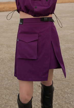 ESC Studio이에스씨스튜디오 Pocket wrap skirt(Purple)
