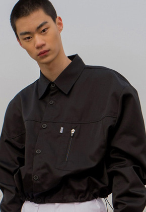ESC Studio이에스씨스튜디오 String crop shirt(Black)