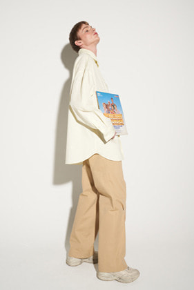 STU에스티유 WIDE COTTON PANTS BEIGE (ORDER MADE)