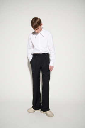 STU에스티유 STITCH WIDE SLACKS BLACK (SOLD OUT)