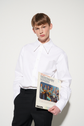 STU에스티유 PEAKED COLLAR SHIRT WHITE