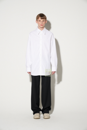 STU에스티유 OVERFIT PVC POCKET SHIRT WHITE (SOLD OUT)