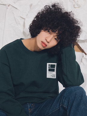 Boniee보늬 [UNISEX]950g Oversize mtm collage_green
