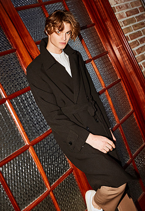 Yan13얀써틴 TOM OVER FIT TRENCH COAT_BLACK