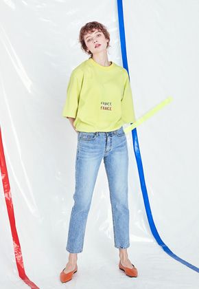 Voiebit브아빗 V227 80'S SLIM DENIM PANTS  LIGHT BLUE