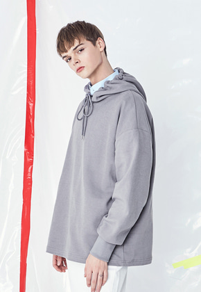 Voiebit브아빗 V321 LOOSE FIT OVER HOODIE  DEEP GRAY