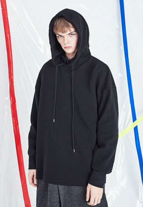 Voiebit브아빗 V321 LOOSE FIT OVER HOODIE  ORANGE