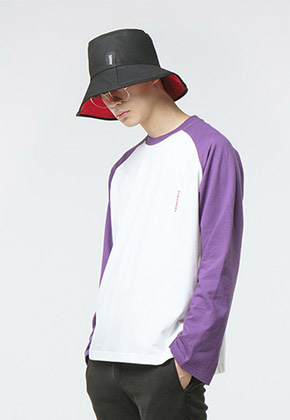 HANAH하나 RAGLAN L/S T-SHIRT(PURPLE)
