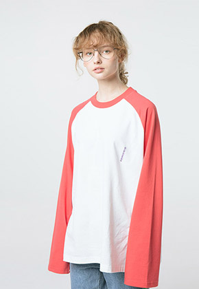 HANAH하나 RAGLAN L/S T-SHIRT(RED)