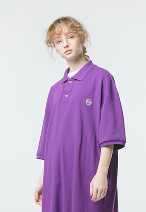 HANAH하나 OVERFIT LOGO DRESS(PURPLE)