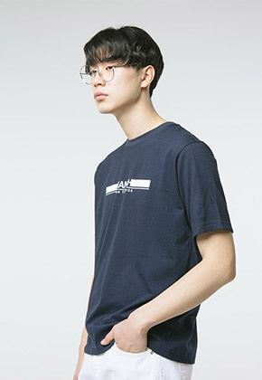 HANAH하나 TURN THE PAGE T-SHIRT(NAVY+WHITE)