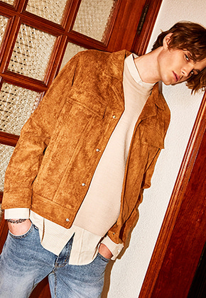 Yan13얀써틴 BLACK LABEL SUEDE BLOUSON_BEIGE