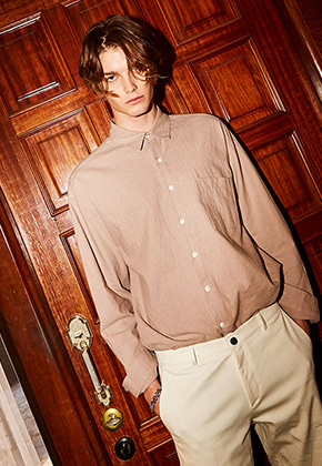 Yan13얀써틴 SPECIAL OVER FIT SHIRT_PINK BEIGE