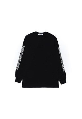 Realization리얼라이제이션 Push The Button Long Sleeve T-Shirts[BLACK]