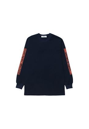Realization리얼라이제이션 Push The Button Long Sleeve T-Shirts[NAVY]