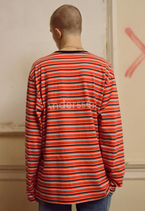 Anderssonbell앤더슨벨 UNISEX ANDERSSON STRIPE L/S TEE atb186u RED