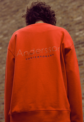 Anderssonbell앤더슨벨 UNISEX RUNNING EMBROIDERY SWEATSHIRT atb181u RED