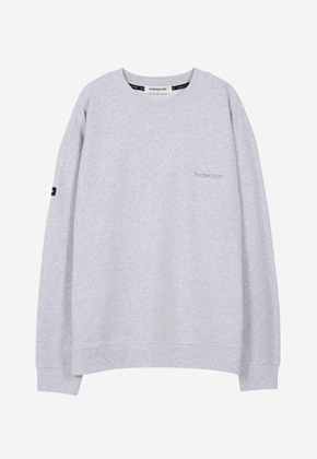 Anderssonbell앤더슨벨 UNISEX RUNNING EMBROIDERY SWEATSHIRT atb181u GREY