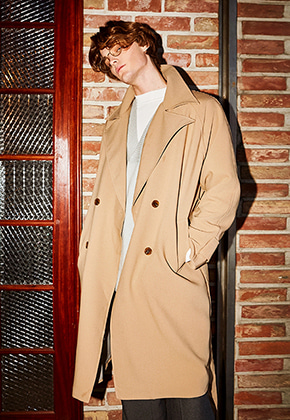 Yan13얀써틴 TOM OVER FIT TRENCH COAT_BEIGE