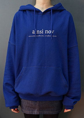 Ainsinov앙시노브 STITCH POINT HOOD (BLUE)