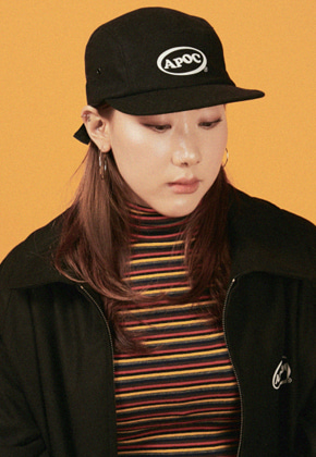 A Piece Of Cake어피스오브케이크 Oval Logo Camp Cap_Black