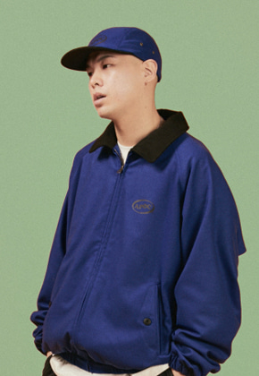 A Piece Of Cake어피스오브케이크 Oval Logo Camp Cap_Blue