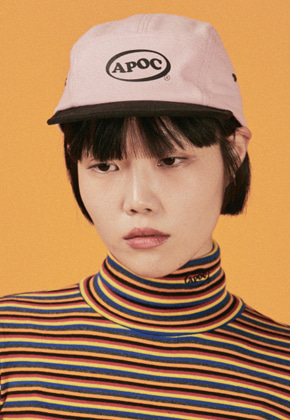 A Piece Of Cake어피스오브케이크 Oval Logo Camp Cap_Pink