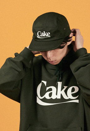 A Piece Of Cake어피스오브케이크 Cake Logo Camp Cap_Green