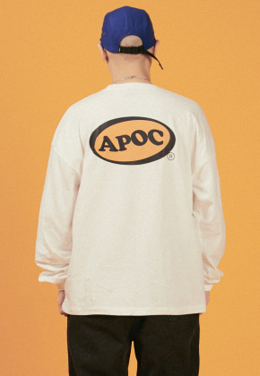 A Piece Of Cake어피스오브케이크 Oval Logo Longsleeved T-shirts_Offwhite